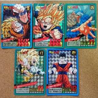 Dragonball power level loose prism cards