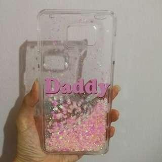 🚚 [In Stock] Note 5 Daddy Pink Glitter Hearts Phone Case