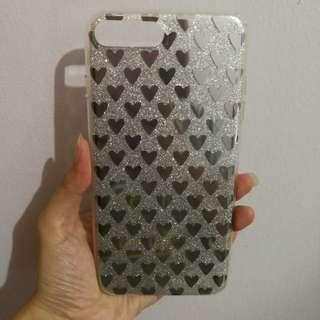 🚚 [In Stock] IPhone 7 + 8 + Silver Hearts Phone Case