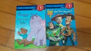 英文故事書 Toy Story 2 and Pooh's Heffalump Movie