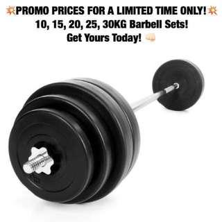 🚚 *PROMO PRICE* Barbell Sets