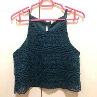 (BN) Purpur Crochet Halter Top