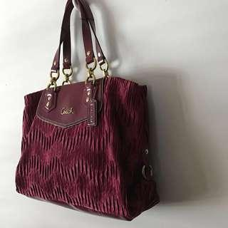 Coach Red bag shoulder Handbag