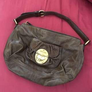 Authentic Miu Miu Brown Leather Bag Shoulder