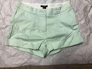 H&M mint green shorts size 4