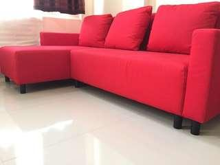 IKEA Sofa Bed (Red)