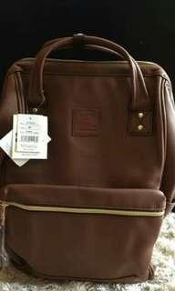 AUTHENTIC ANELLO PU LEATHER LARGE BACKPACK