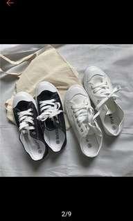 全新 23 白色帆布鞋