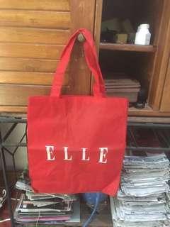 Handbag ELLE ORIGINAL ASLI Tas Belanja Kain bukan Paperbag