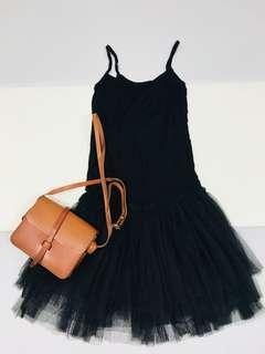 🚚 黑色背心紗裙
