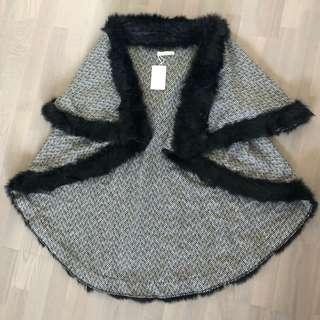 Faux Fur Cape Vest (one size fits all)