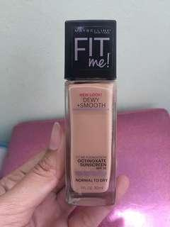 Preloved Maybelline Fit Me Foundation Dewy + Smooth Shades BUFF BEIGE (130)