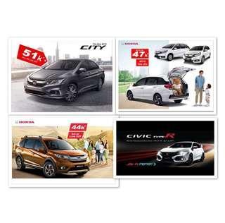 2018 2019 Honda City Jazz mobilio crv hrv civic brv