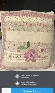 Pair of Cushion cover with feather insert