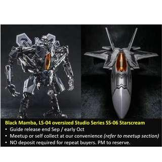 [Preorder] Black Mamba, LS-04 oversized Studio Series SS-06 Starscream