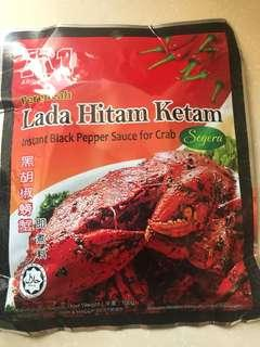 A1 黑胡椒螃蟹即煮料一包100g