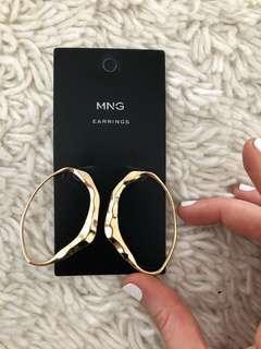 MNG Gold Earrings