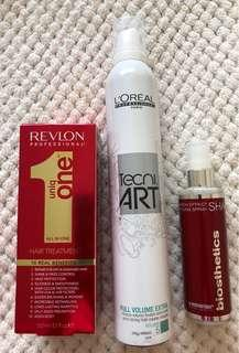 Brand New Hair Products- Treatment, Mouse & Styling Spray