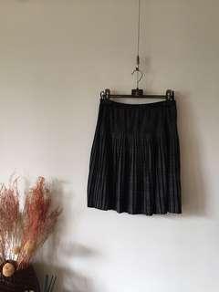 日本品牌質感格紋小百褶裙
