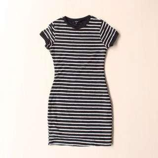 Striped bodycon dress mds