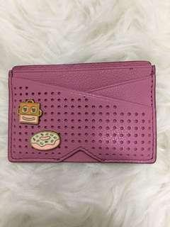 Fossil pink card case leather
