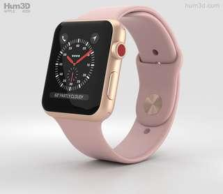 🚚 Apple watch 3 series 42mm ( Pink Sand )