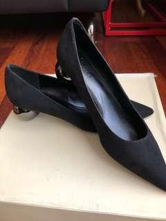 Charles & Keith pointed suede shoe