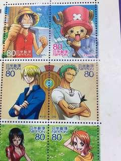 Full set of 10 pcs of One Piece Japan Nippon Stamp Sheet