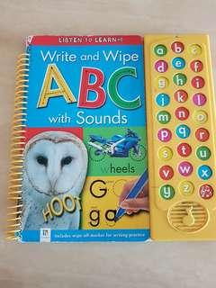 marker wipe clean alphabet learning book