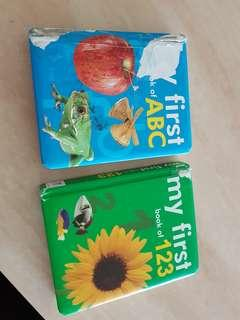 alphabets and numbers first books