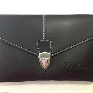 Leather pouch zara