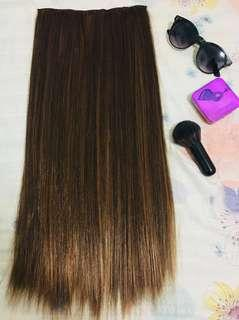 Pre love Hair extension washable(Used but not abused) Dark brown