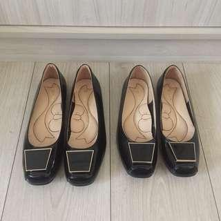 🆕專櫃DIANA 黑色真皮平底鞋 包鞋