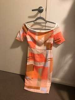 Pasduchas size 8 off shoulder dress