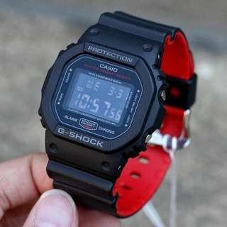 🔴 Brand New Black Red DW5600 DW5600HR Casio Gshock 100% Authentic Brand NEW with FREE DELIVERY 📦 G-Shock Square Classic Unisex