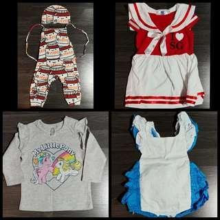 Baby Newborn Onesie Romper Nutella Alice Wonderland Little Pony Cosplay SG NDP Red