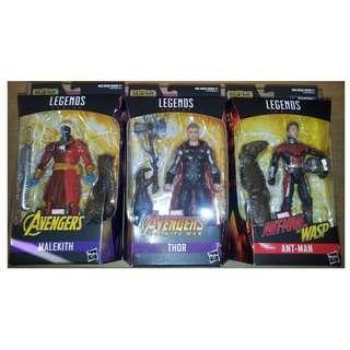 Marvel Legends Avengers Infinity War 4隻 figures 連BAF ( Cull Obsidian, Thor, Ant-Man, Malekith )
