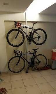 Double Bike pole stand