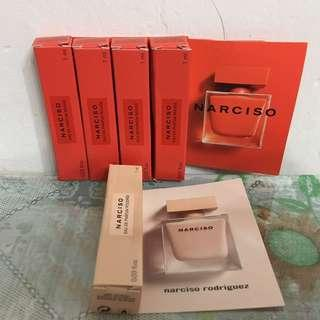 Narciso Rodriguez 一套6件 NARCISO eau de parfum rouge 香水 eau de parfum poudree 香水