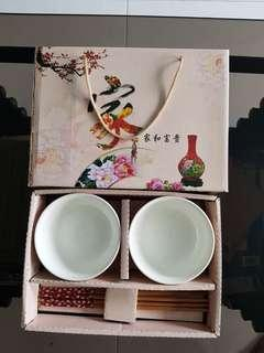 Gift Set of Bowls and Chopsticks
