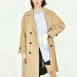 Zara Woman Belted Trench Coat