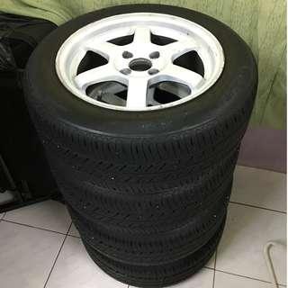 TE 37 + Tyre + Sport spring