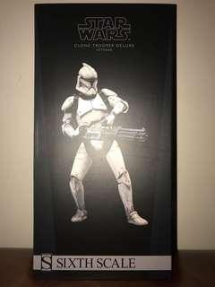 Sideshow Collectibles 1/6  Star Wars Clone Trooper Deluxe Veteran Version Brand New