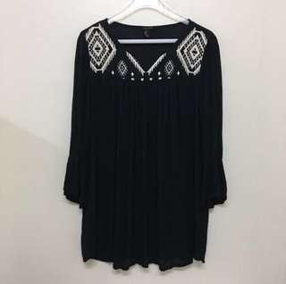 Forever 21 Embroidery Long Bohemian Top #MidSep50
