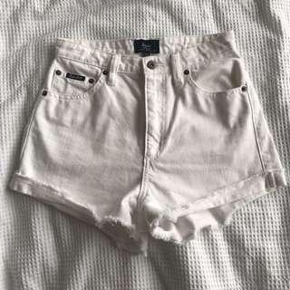 bardot white shorts