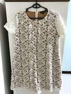 Jumpeatcry Mothercot Maternity Lace Crochet Dress