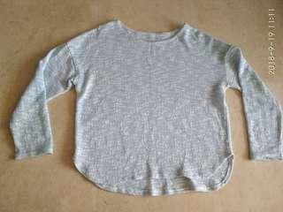 Blue long sleeve knitted Top