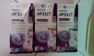 Philips Avent Natural Decorated bottle 260ml 9oz × 3