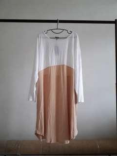 Batwing Long Sleeve Loose Dress