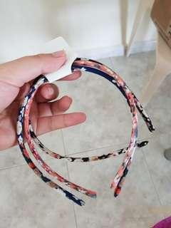 🚚 BNWT FABRIC COVERED STRETCH HAIRBANDS